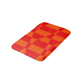 Abstract Orange And Red Background Bath Mat
