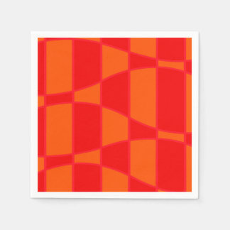 Abstract Orange And Red Background Paper Napkins
