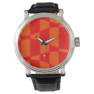 Abstract Orange And Red Background Watch
