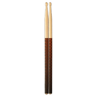 abstract orange&black drumsticks
