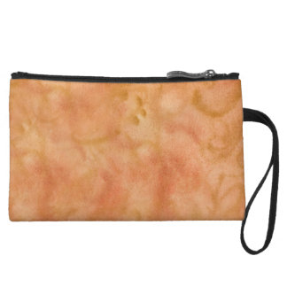 Abstract Orange Custom Mini Clutch Wristlet Clutches