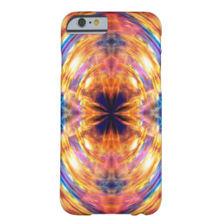Abstract Orange Fire Pattern Barely There iPhone 6 Case