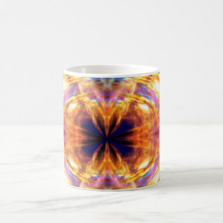 Abstract Orange Fire Pattern Coffee Mug