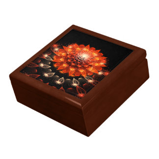 abstract orange flower gift box