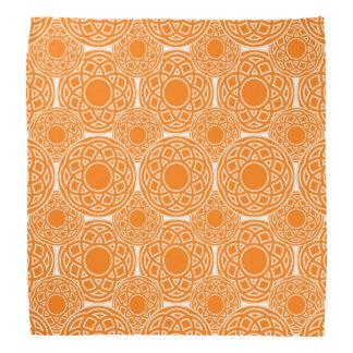 Abstract orange geometric pattern bandana