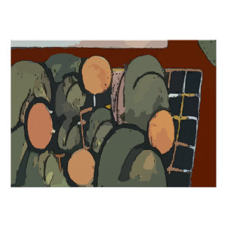 Abstract Orange Grove Poster