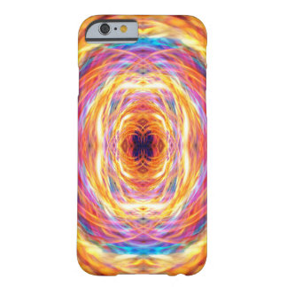 Abstract Orange Light Trails Pattern Barely There iPhone 6 Case