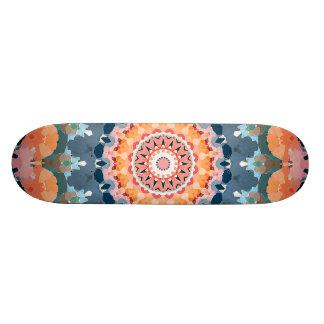 Abstract Orange Mandala Skateboards