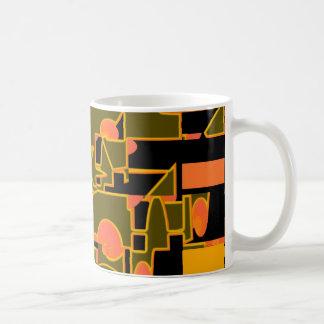 Abstract Orange Mug