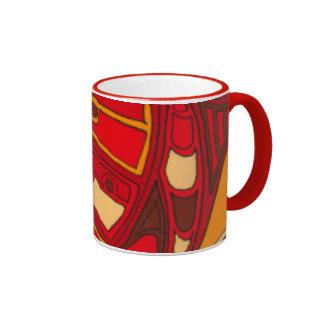 Abstract Orange Panels Coffee Mug