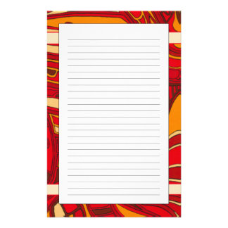 Abstract Orange Panels Stationery