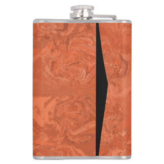 Abstract orange pattern hip flask
