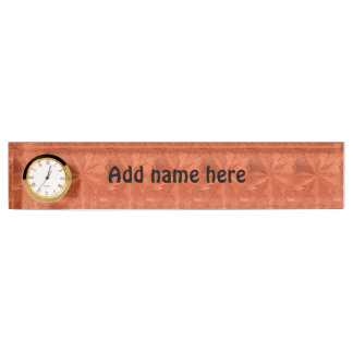 Abstract orange pattern nameplate