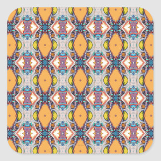 Abstract Orange Pattern Square Sticker