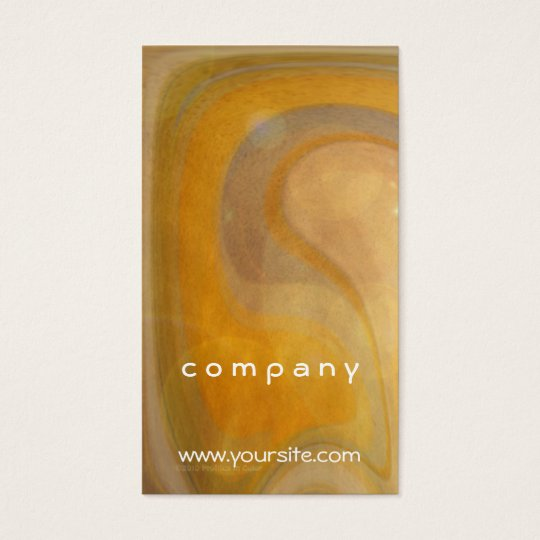 Abstract Orange Popsicles Business Card
