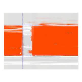 Abstract Orange Postcard
