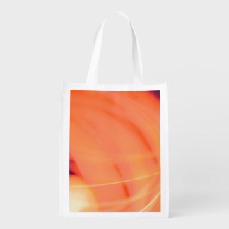 abstract orange red green spectrum color reusable grocery bag