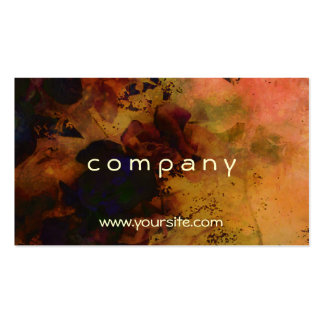 Abstract Orange Rose Watercolor Pack Of Standard Business Cards