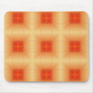 Abstract Orange Squares Pattern Mouse Pad