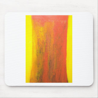 Abstract Orange Tree Trunk Mouse Pad