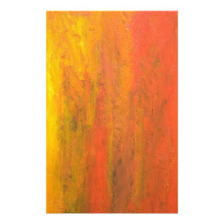 Abstract Orange Tree Trunk Stationery