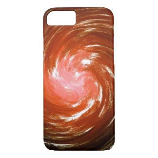 Abstract Orange Twist Art Background #2 iPhone 7 Case