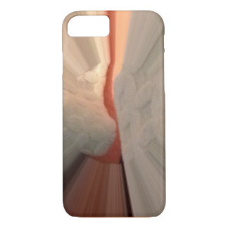 Abstract Orange & White Sunrise iPhone 8/7 Case