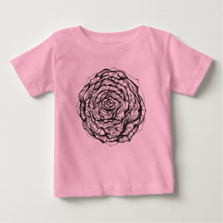 Abstract Ornamental Rose Baby T-Shirt