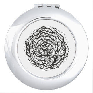 Abstract Ornamental Rose Compact Mirrors