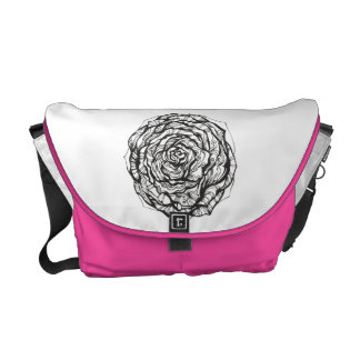 Abstract Ornamental Rose Messenger Bag