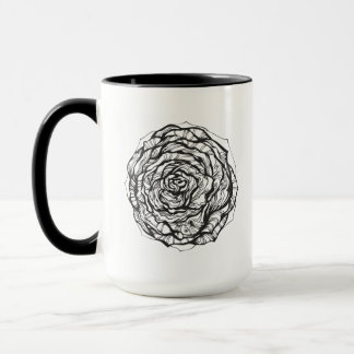 Abstract Ornamental Rose Mug