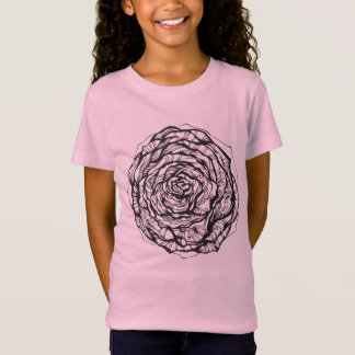Abstract Ornamental Rose T-Shirt