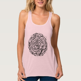Abstract Ornamental Rose Tank Top