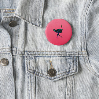 Abstract Ostrich Button