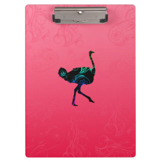 Abstract Ostrich Clipboard