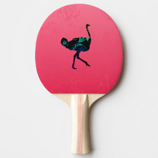 Abstract Ostrich Ping Pong Paddle