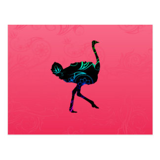 Abstract Ostrich  Postcard