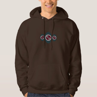 Abstract Oval Design Hoodie