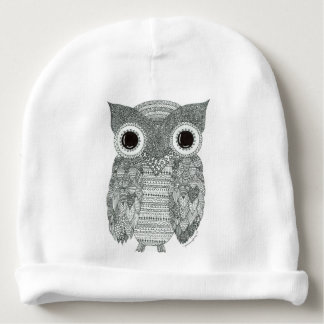 Abstract Owl Baby Beanie