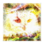 Abstract owl head painting gallery wrapped canvas