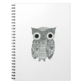 Abstract Owl Spiral Notebook