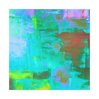 Abstract Paint Art Piece Stretched Canvas Prints