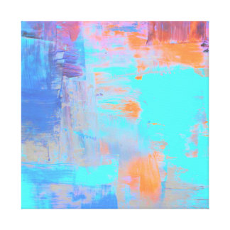 Abstract Paint Art Piece Gallery Wrapped Canvas