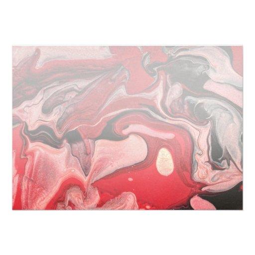 Abstract - Paint - Raspberry Nebula Invitation