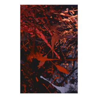 Abstract Paint Splatter Art Stationery Design