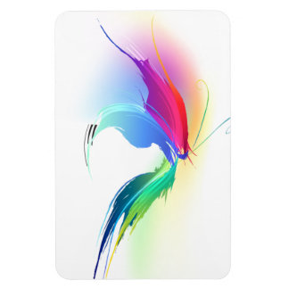 Abstract Paint Splatter Butterfly Rectangle Magnet