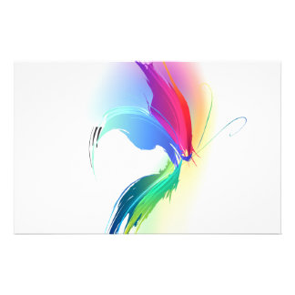 Abstract Paint Splatter Butterfly Stationery