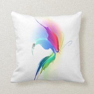 Abstract Paint Splatter Butterfly Throw Pillow