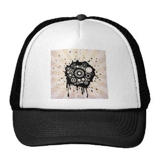 Abstract Paint Splatter Design Hats