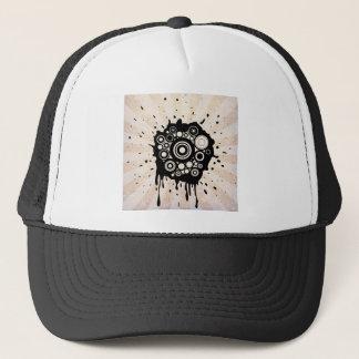 Abstract Paint Splatter Design Trucker Hat